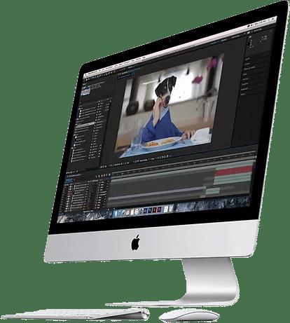 pós-produção de vídeo desktop