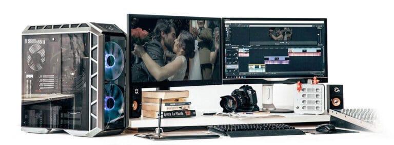 workstation pós-produção de vídeos