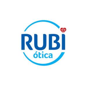identidade visual logo Rubi Ótica